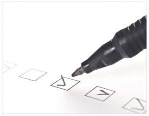 Checklist Closeup